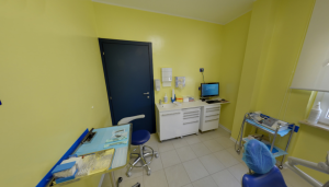 Foto panoramica della sala visite della clinica Dental House Kids