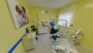 Foto panoramica della sala visite per bambini della clinica Dental House Kids