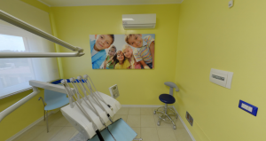 Seconda sala visite della clinica Dental House Kids