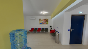 Sala d'attesa della clinica dentistica Dental House Kids