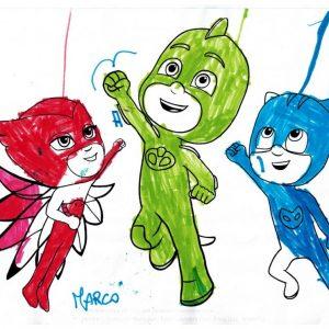 Disegno dei supereroi dei bambini di Dental House Kids