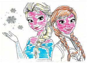 Disegno di frozen dei bambini di Dental House Kids